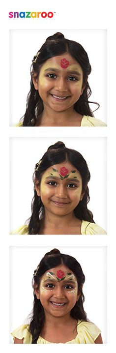 Belle from Beauty and the Beast Face Paint Tutorial | Snazaroo have teamed up with Disney to show you how you can look like Belle from Beauty and the Beast!
