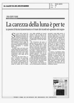 La carezza della luna è per te: la recensione al libro di Nicola Sciannimanico su La Gazzetta del Mezzogiorno