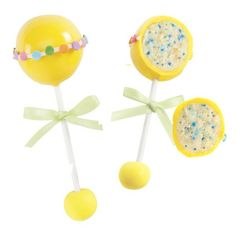 With just a few bites of these Baby Rattles Cake Pops the gender of your baby will be revealed. Mix in blue or pink jimmies when mixing the cake and icing, and then the story will soon be told.