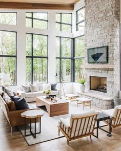 modern meets traditional living room decor, transitional living room design, modern neutral living room design, modern upholstered wood armchairs, mod… - All About Living Room Decor Traditional, Rustic Modern Living Room, Modern Living Room Designs, Modern Traditional Decor, Modern Room Design, Living Room Sofa Design, Modern Rustic Homes, Design Salon, Transitional Living Rooms