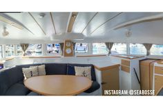Our Lagoon 380 Catamaran salon / living room / kitchen Boat life Sailboat Liveaboard