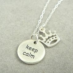 Keep Calm and Carry On sterling silver charm by asilomarworks, $31.00