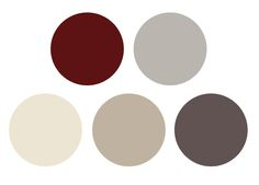 ( colour palette - burgundy, cream and grey )