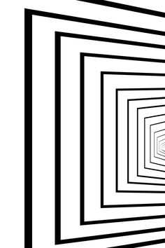 Abstract Black and White Geometric Pattern with Stripes in Tunnel. Linear Texture of Tile Wall