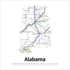 A Simplified Road Map Of Every Interstate Highway And US Route - Simplified us interstate map
