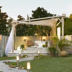 Tonnelle autoportante Portofino, bois gris, 12.25 m²