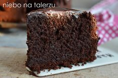 niebo na talerzu: Bardzo czekoladowe ciasto. Missipi mud cake. Przepis Mud Cake