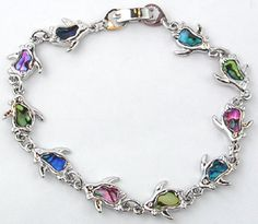 Swimming Penguin Bracelet - this website has a bunch of penguin stuff! Happy birthday to me! :)