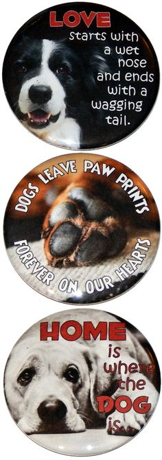 """Peace Love /& Boxers 5/"""" Round Hippie Dog Magnet for Cars Fridges and more"""