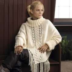Sleeved Poncho - Ponchos - Fashion Accessories - Knit & Crochet