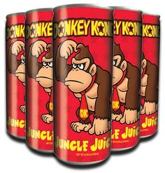 Jungle Juice Gamer Tags, Jungle Juice, Donkey Kong Country, The Donkey, Lets Celebrate, Root Beer, Fun Drinks, Drinking Tea, Energy Drinks