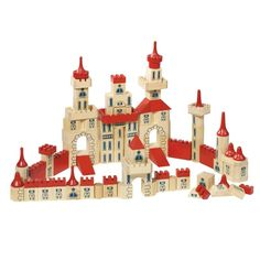 Wooden Castle Blocks from Oompa Toys