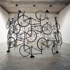 Ai Weiwei is probably the most famous Chinese artist today. Take a look at 10 most expensive Ai Weiwei art sculptures Ai Weiwei, Fischli Weiss, Pimp Your Bike, Instalation Art, Wei Wei, Marcel Duchamp, Bicycle Art, Bicycle Crafts, Bicycle Design