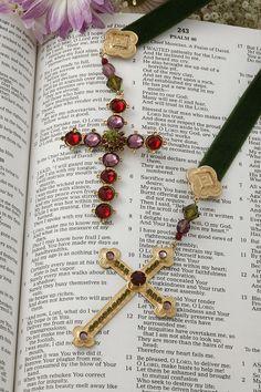 Jeweled Cross Ribbon Bookmark – Celebrate Faith
