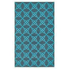 Outdoor Rug in blue and tourquoise, Joss & Main.
