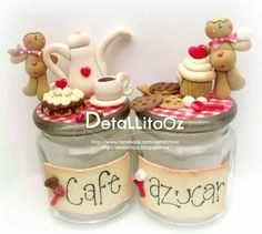 Para el Café y azúcar en masa polymera o pasta francesa