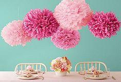 Pompones de flores de papel para decorar.