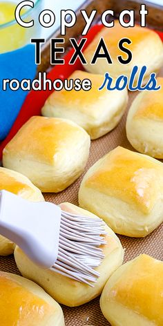These Copycat Texas Roadhouse Rolls are fluffy and golden brown perfection. They're great for weeknight dinners or special occasions like Thanksgiving and Christmas. For more easy copycat recipes follow Easy Budget Recipes! Quick Bread Rolls, Baked Rolls, Grilling Recipes, Slow Cooker Recipes, Crockpot Recipes, Easy Holiday Recipes, Best Dinner Recipes, Budget Recipes, Budget Meals
