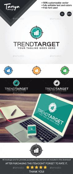 Trend Target Logo Template — Vector EPS #finance #visual identity