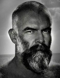 gray hair and beard images at DuckDuckGo Full Beard, Epic Beard, Beard Love, Beard Styles For Men, Hair And Beard Styles, Hair Cute, Grey Beards, Silver Foxes, Barbers