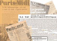 SIMENON SIMENON. APRES LE BAL ANTHROPOMETRIQUE: EXTRAITS DE QUELQUES ARTICLES DE LA PRESSE DE L'EPOQUE