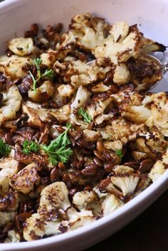Roasted Cauliflower with Browned Butter