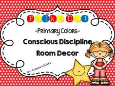 Colorful Primary Polka Dots will liven up your Conscious Discipline Classroom!  This set includes a Wish Well Board, School Family Poster, School Family Jobs, Safe Place Poster, I Commit Mini Poster, and STAR Poster!  This is what you get:  Welcome Banner Alphabet Posters A-Z Numbers Posters 1-10 Wish Well Board Safe Keeper Commitments/Rules (Editable) I Commit Mini Poster Reward Mini Poster Behavior Clip Chart (Green/Happy Face; Yellow/Straight Face; Red/Sad Face) Safe Place Poster STAR ...