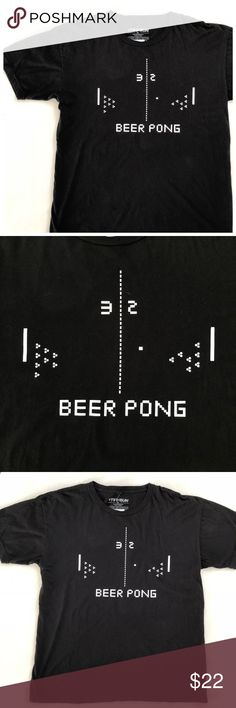 "NWT Black Beer Pong Graphic Tee from Fifth Sun NEW Black Beer Pong Graphic Tee.   This shirt says it all. Humorous graphic tee that looks like Pong the retro video game but is actually a Beer Pong table. New with tags.  Approximate Measurements Chest 23"" Length 28"" Fifth Sun Shirts Tees - Short Sleeve"