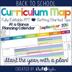 Power Up Your Teaching by Creating a Curriculum Map - Chalk & Apples