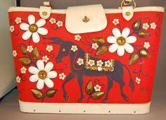 "Enid Collins of Texas Jeweled Purse/Handbag ""People's Choice"" w/Donkey!!"