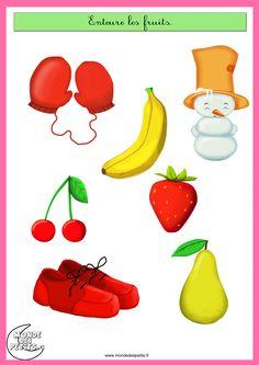 Entoure les fruits