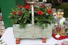 Green metal woven basket | Flickr - Photo Sharing!