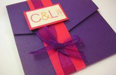 Love this pocket invitation set - PerfectPapers on Etsy - Funky Fresh Fashionista Pocket Wedding Invitation