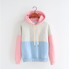 Korean loose fleece hooded sweater