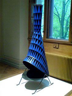 Fabulous mid-century fireplace by Swedish designer Stig Lindberg  (1916-1982). via P-E Fronning on flickr