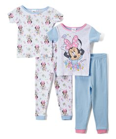 Look at this Minnie Mouse Flower Two-Piece Pajama Set - Infant & Toddler on #zulily today!