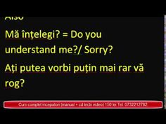 Engleza ABC pentru incepatori - Aplicatii 10 - YouTube Romanian Language, English, Tips, Youtube, English Language, Youtubers, Youtube Movies, Counseling