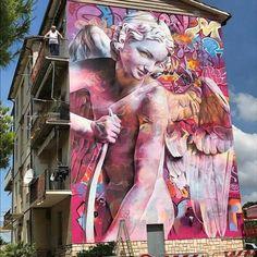 Streetart Flash - Pichi & Avo @ Montecosaro, Italien - Street art and Public art - Tapete Urban Street Art, 3d Street Art, Street Art Graffiti, Street Artists, Graffiti Kunst, Graffiti Murals, Mural Art, Graffiti Artists, Graffiti Lettering