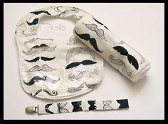 https://www.etsy.com/listing/122127271/mustache-baby-bib-and-burp-cloth    $18
