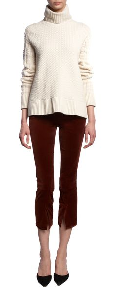 love the split in the front of the capris, good color, and just as chic with flats.