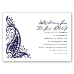 Paisley Henna - Lapis - Invitation