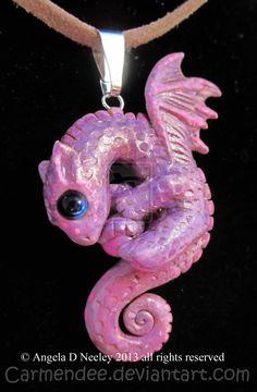 pink dragon by carmendee.deviantart.com on @deviantART
