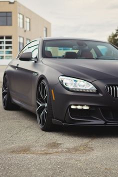 Coated in a shade of shadow black, this 6 Series Coupe customized by Vancouver-based SR Auto Group encompas. My Dream Car, Dream Cars, Matte Black Bmw, Cool Pictures, Cool Photos, Bmw 650i, Bmw Autos, Bmw 6 Series, Gt Cars