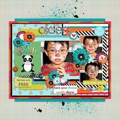 Layout using You can Smile Kit by River Rose Designs.  Template is from Remember Those Days 6 by Two Tiny Turtles Designs.  Both are available at Scrap Stacks Shop