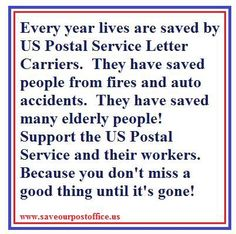 keep the postal service alive!!!