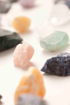 In nature there are many different types of crystals, minerals and precious stones!