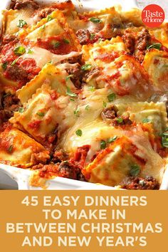 Could You Eat Pizza With Sort Two Diabetic Issues? 45 Easy Dinners To Make In Between Christmas And New Year's Potluck Recipes, Fall Recipes, Pasta Recipes, Holiday Recipes, Dinner Recipes, Cooking Recipes, Easy To Make Dinners, Easy Dinners, New Years Dinner