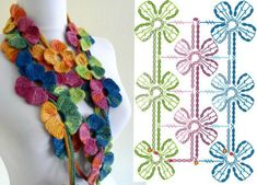 Crochet Jewelry Patterns, Crochet Accessories, Diy Necklace, Crochet Necklace, Love Crochet, Diy Projects To Try, Crochet Crafts, Craft Items, Diy And Crafts