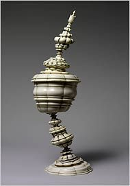 Metropolitan Museum Art: leaning ivory cup from 17th-century Germany.