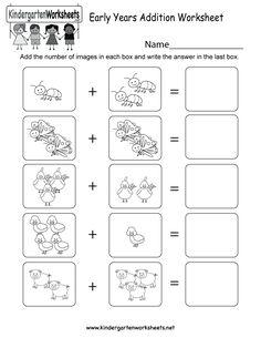√ Basic Addition Worksheets for Kids 001 . 7 Basic Addition Worksheets for Kids 001 . Math Sheets for Grade 1 for Fun Mathematics Lesson Maths Worksheets Ks2, Kindergarten Addition Worksheets, Worksheets For Kids, In Kindergarten, Printable Worksheets, Number Worksheets, Kindergarten Workbooks, Addition Activities, Alphabet Worksheets